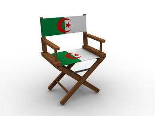 Chair with flag of Algeria