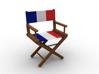 Chair with French flag