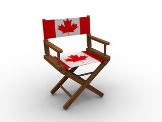 Chair with Canadian Flag
