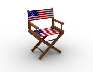 Chair with USA flag