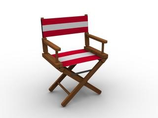 Chair with Austrian flag