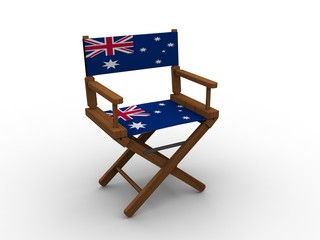 Chair with Australian flag