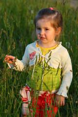 Small girl in rye