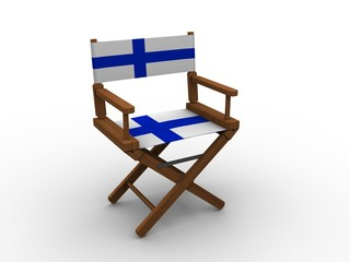Chair with flag of Finland