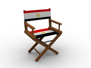 Chair with flag of Egypt