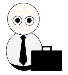 Empresario con maletin