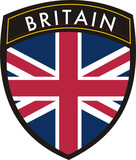 britain vector crest flag poster