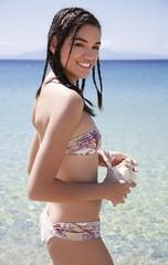 Young woman in bikini on beach