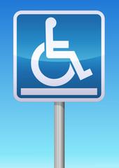 Panneau plate-forme pour handicapés