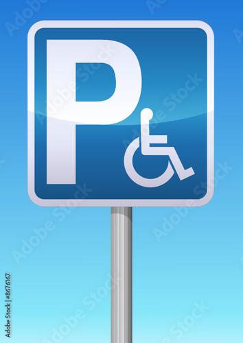 panneau parking handicap de onidji fichier vectoriel libre de droits 8676167 sur. Black Bedroom Furniture Sets. Home Design Ideas