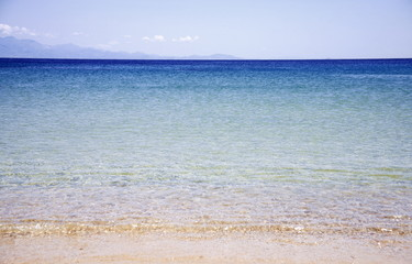 Clear blue water at the beach