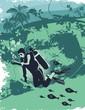 roleta: scuba diver underwater,illustration