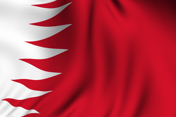 Rendered Bahraini Flag