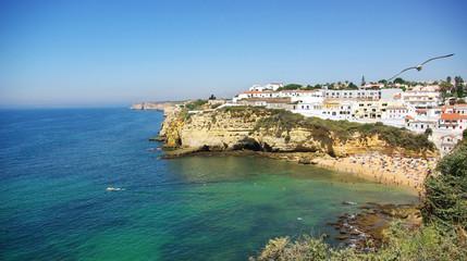 Beach of Carvoeiro in Algarve region, Portugal.