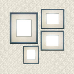 Set of Blue Frames Scrapbooking Insert
