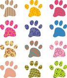 patterned paws poster