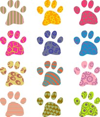 patterned paws