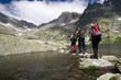 Hiking in high mountains - 8683383