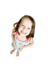 little girl with teeth missing