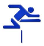 leichtathletik athletics hürde barrier symbol