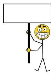 Guy holding poster