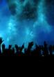 Blauer Nebel im Konzert
