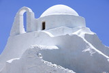 Whitewashed island church