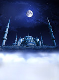 Mosque night paradise poster