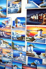 Island paintings displayed for sale