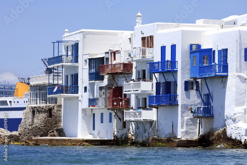 Island houses on the sea