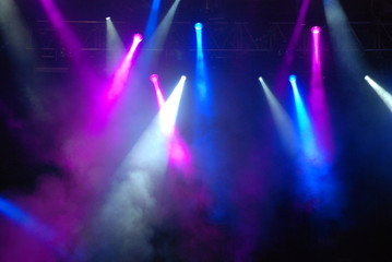 Stage Strobe Lights at Concert