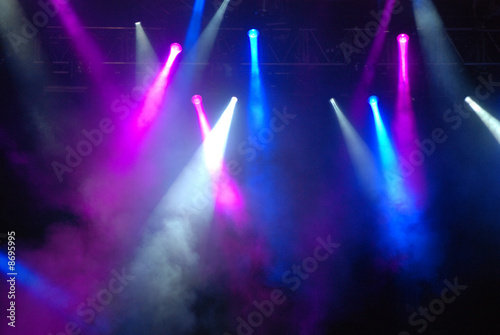 Fotobehang Rook Stage Strobe Lights at Concert