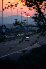 Cars on the highway Ethniki Odos;Greece
