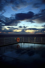 Ferry boat deck;Ancona-Patras