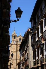 Church seen through alleyway;San Sebastian;Spain