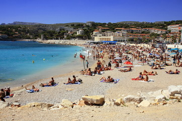 People on the beach;Cassis;France