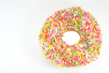 Donut with Colored Rice Sprinkle poster