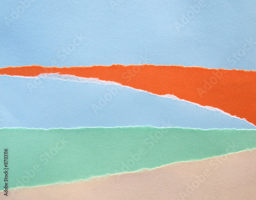 Textured color papers