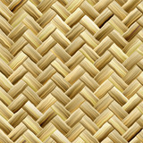 Yellow Basket Weave poster