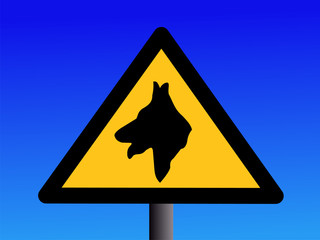 warning guard dog sign