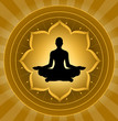 Yoga - Meditation On Lotus Background
