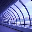Violet glass corridor