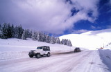 Jeeps on snow covered road