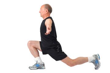 Senior man. Exercise