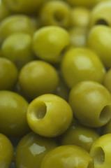 Green olives, close-up