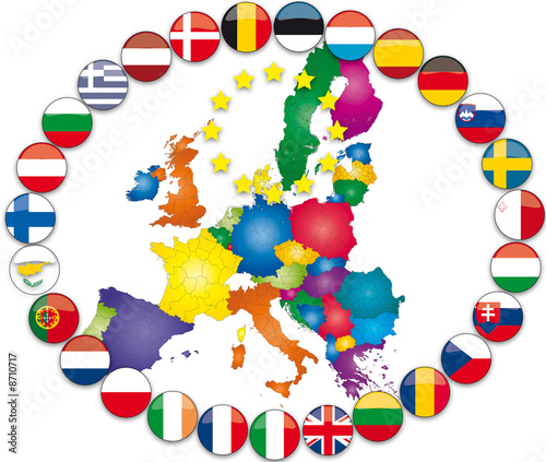 Illustrazione bandiere europee