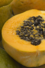Papaya, close-up