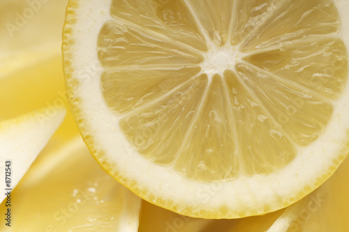 Cross section of lemon