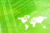 World Map Digital Economy Background poster