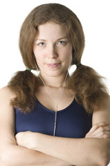 The redhead woman in headphones II